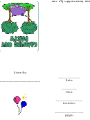 Camping Out Party Invitations Template