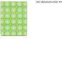 Green Orbs Retro Web Template