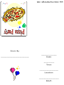 Pizza Party Initations Template