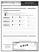 Direct Deposit Authorization Agreement Form