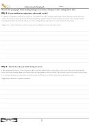 English Grammar Worksheet - Improving A Paragraph