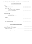 Annual Salary Compensation - Sample Church/minister Compensation-agreement Form