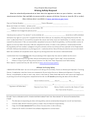 Driving Safety Request Form