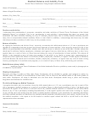Medical Release And Liability Form - Texas