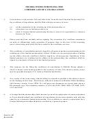 Form 607 - For Filing The Certificate Of Cancellation - Instructions