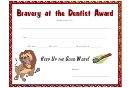 bravery certificate template - bravery breast cancer certificate printable pdf download