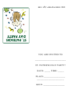 Saint Patrick's Day Party Invitation Template