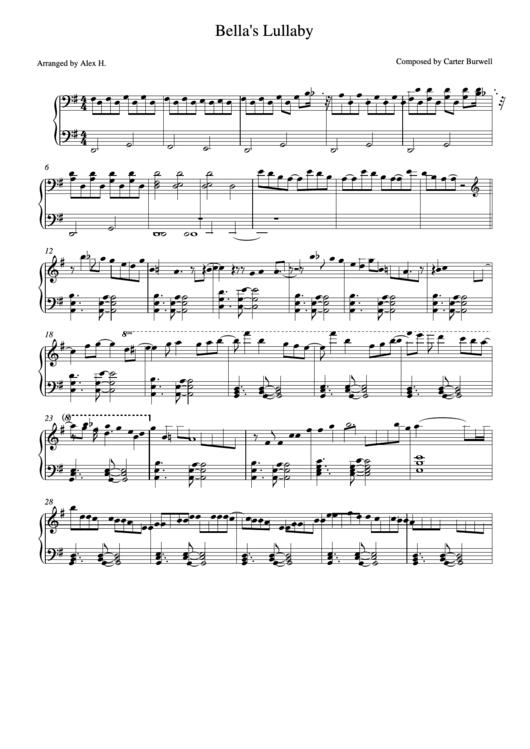 Bellas Lullaby Score Final - Piano Sheet Music