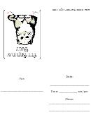 Tiny Kitten - Birthday Party Invitation Template