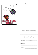 Spring Fling Party Invitations Template