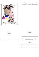 Smiling Cat - Birthday Party Invitation Template