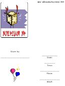Asian Lantern - Party Invitation Template