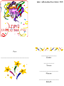 21st Birthday Party - Invitation Card Template
