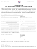 Nomination For The Ewing M. Kauffman Adult Eagle Scout Award Form - Boy Scouts Of America