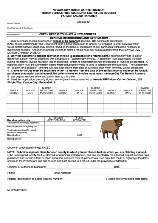 159 nevada tax forms and templates free to download in pdf for Nevada motor carrier division
