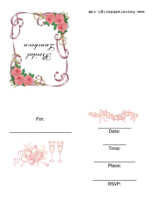 Bridal Luncheon Invitation Template Printable pdf