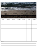 Beach Weekly Planner Template