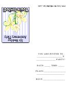 5th Wedding Anniversary Party Invitation Template