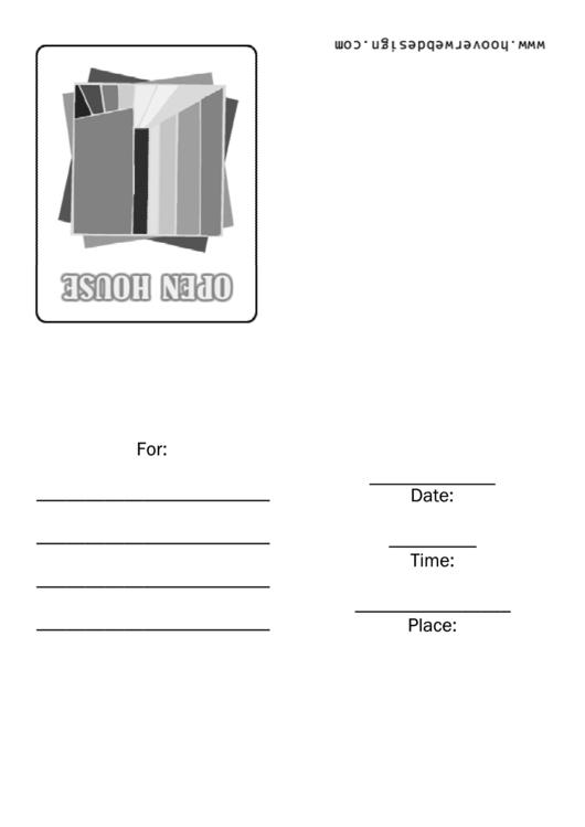 Open House Invitation Template Printable pdf