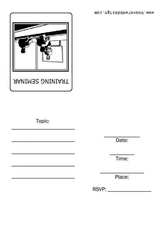 Training Seminar Invitation With Men Template Printable pdf