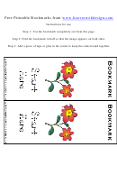 Flowers Bookmark Template