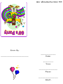 60's Party Invitation Template