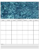 Sea Weekly Planner Template