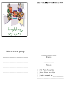 Let's Go Shopping Invitation Template