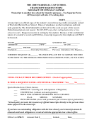 Transcript Request Form - The John Marshall Law School