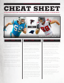 2012 Atlanta Falcons Cheat Sheet