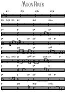 Moon River - Guitar Chord Chart