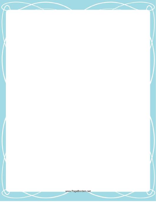 Border Template Printable pdf
