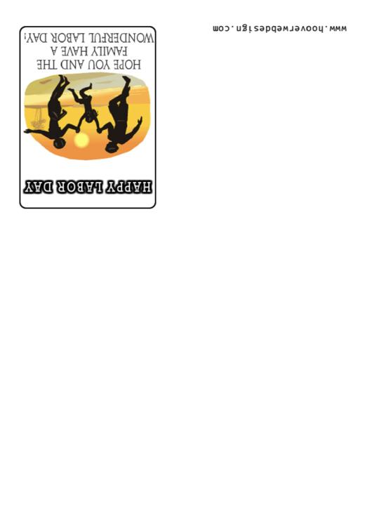 Happy Labor Day Congratulations Card Template Printable pdf