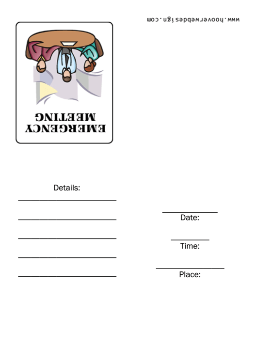 Emergency Meeting Invite Template Printable pdf