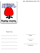 Teachers Meeting Invite Template
