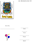 1950's Party Invitation Template