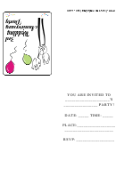 3rd Wedding Anniversary Party Invitation Template