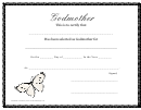 Godmother Certificate Template