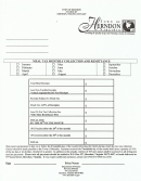 Meal Tax Monthly Collection And Remittance Form - Town Of Herndon