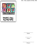 Casino Invitation Card Template