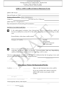 Form 123 - Qme Or Ame Conflict Of Interest Disclosure Form - California Division Of Workers' Compensation