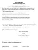Form L-10 - Application For Amended Certificate Of Authority For Llc