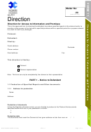 Form 11 - Direction For Access To Information And Premises - 2011