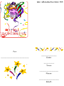 50th Birthday Party Invitations Confetti Template