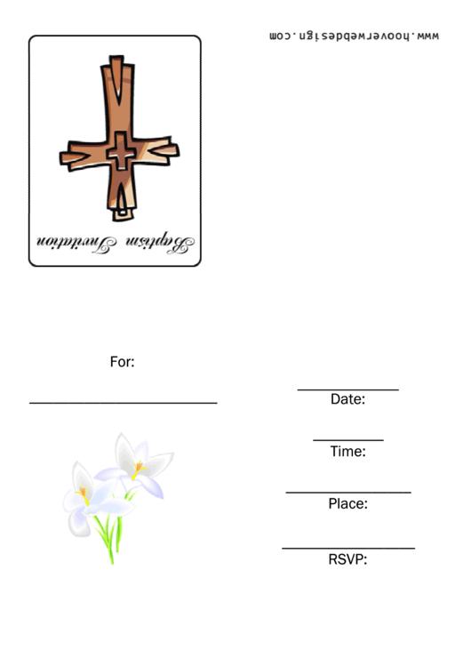 Baptist Invitation Template Printable pdf