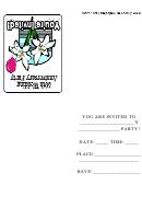 50th Wedding Anniversary Party Invitation Template
