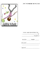 Disco Party Invitation Template