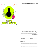 Black Light Party Invitation Template