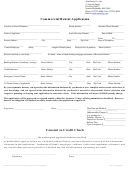 Commercial Rental Application