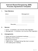 Interest-based Bargaining (ibb) Process Agreement Template